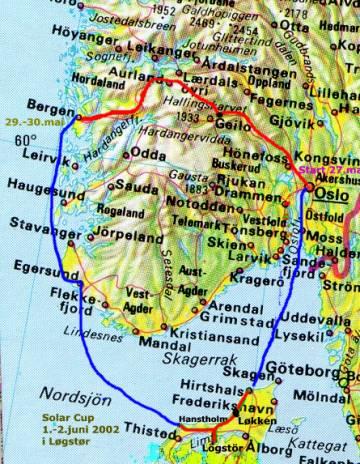 oslo bergen kart EV2002   med batteriELbiler Oslo   Bergen   Danmark oslo bergen kart