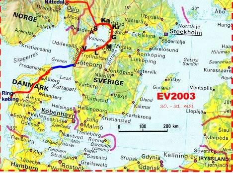 sør sverige kart EV2003   på tur med batteriELbil sør sverige kart